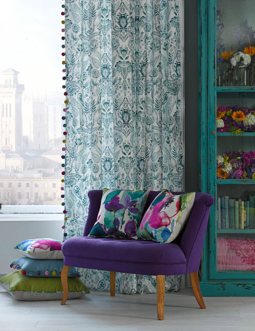 Window Treatment Ideas with Bright Curtains and Drapes from Bluebellgray_1