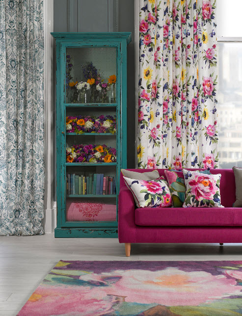 Window Treatment Ideas with Bright Curtains and Drapes from Bluebellgray_2