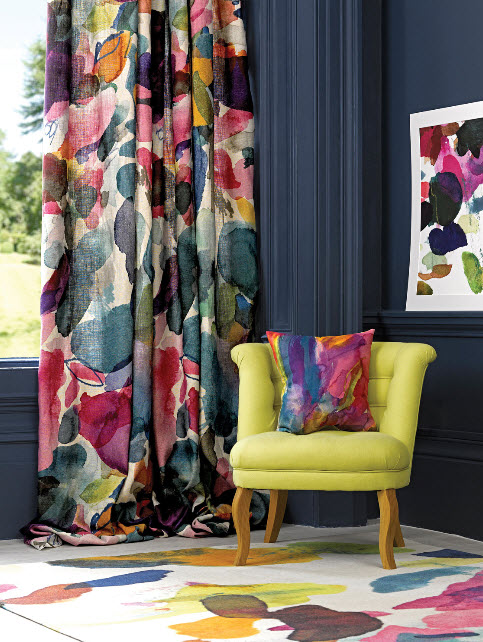 Window Treatment Ideas with Bright Curtains and Drapes from Bluebellgray_4