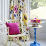 Window Treatment Ideas with Bright Curtains and Drapes from Bluebellgray_6
