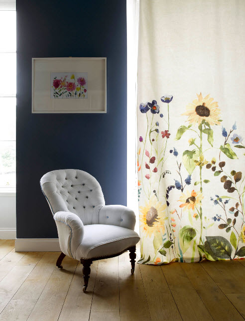 Window Treatment Ideas with Bright Curtains and Drapes from Bluebellgray_8