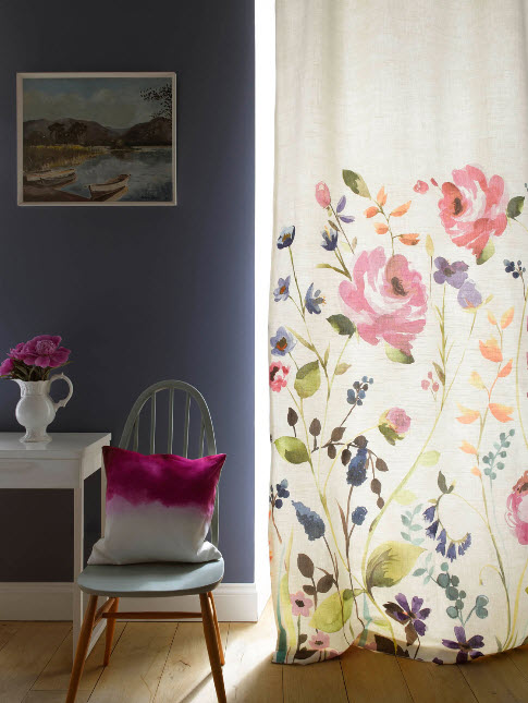 Window Treatment Ideas with Bright Curtains and Drapes from Bluebellgray_9