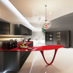 Spectacular Red and Black Kitchen From a Snaidero by Pininfarina