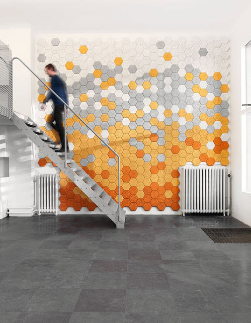 Unique Colorful Hexagonal Wall Tiles by Form Us With Love