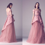 Vintage Colored Gowns From Fadwa Baalbaki Spring 2015 Couture Baby Pink_1