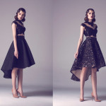 Vintage Colored Gowns From Fadwa Baalbaki Spring 2015 Couture Black