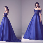Vintage Colored Gowns From Fadwa Baalbaki Spring 2015 Couture Blue
