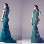 Vintage Colored Gowns From Fadwa Baalbaki Spring 2015 Couture Green