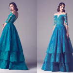Vintage Colored Gowns From Fadwa Baalbaki Spring 2015 Couture Green_1