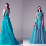 Vintage Colored Gowns From Fadwa Baalbaki Spring 2015 Couture Green_2