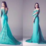Vintage Colored Gowns From Fadwa Baalbaki Spring 2015 Couture Green_3
