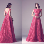 Vintage Colored Gowns From Fadwa Baalbaki Spring 2015 Couture Pink