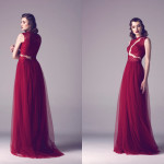 Vintage Colored Gowns From Fadwa Baalbaki Spring 2015 Couture Red