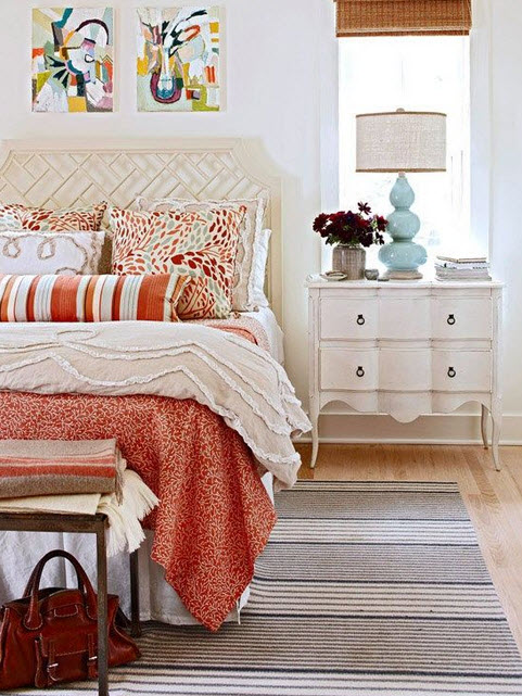 Bedroom with Shabby-Chic Style_8