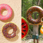 Chocolate Donut Pool Float for Summer