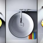 Colorful Countertop Wash Basins Metamorfosi by Olympia Ceramica