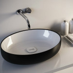 Colorful Countertop Wash Basins Metamorfosi by Olympia Ceramica White