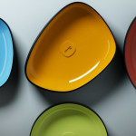 Colorful Countertop Wash Basins Metamorfosi by Olympia Ceramica