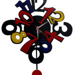 Colorful Pendulum Wall Clocks_1