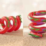 Curly Serpent Pool Float for Summer