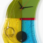 Glass Wall Clocks with Pendulum by Nina Cambron_1