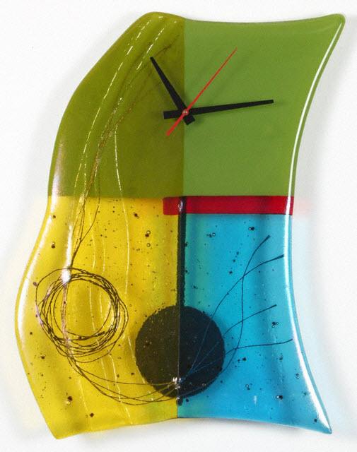 Glass Wall Clocks with Pendulum by Nina Cambron_1