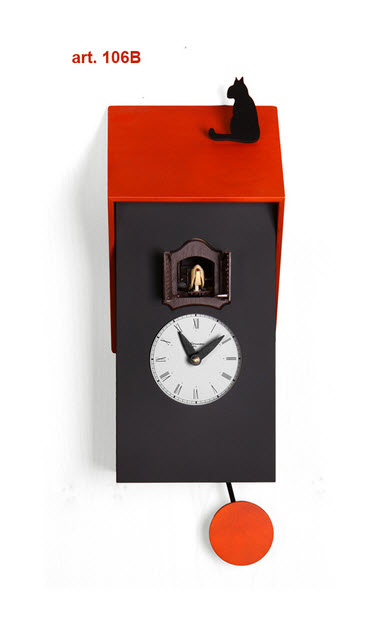 Minimalist Cuckoo Wall Clocks with Pendulum_7