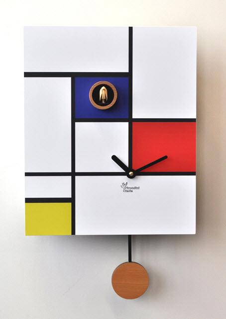 Minimalist Cuckoo Wall Clocks with Pendulum_9