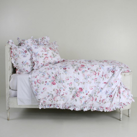 Pastel Colored Shabby Chic Bedding from shabbychic.com Floral
