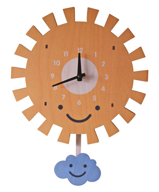 Pastel-Colored Wall Clocks with Pendulum