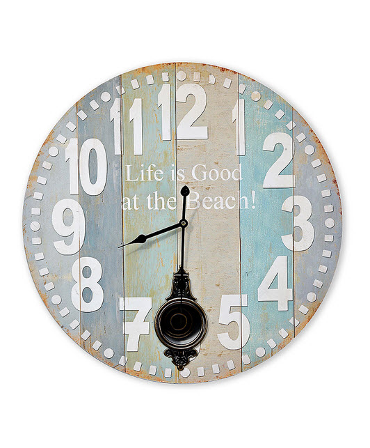 Pastel-Colored Wall Clocks with Pendulum_1