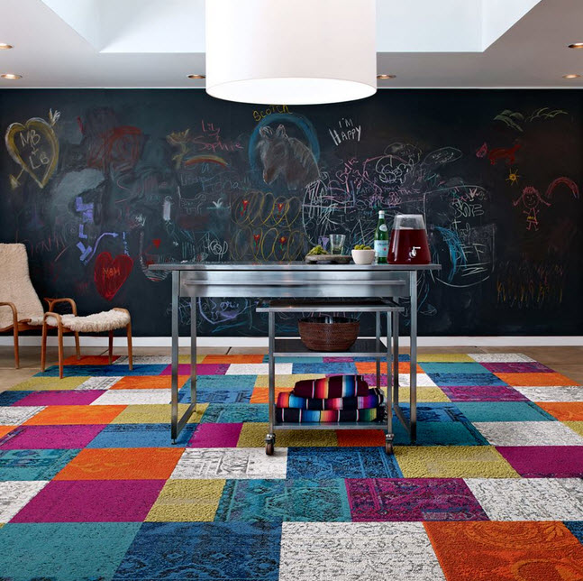 colorful modular carpet tiles from flor