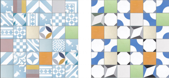 Bright Patchwork Tiles by Purpura_2