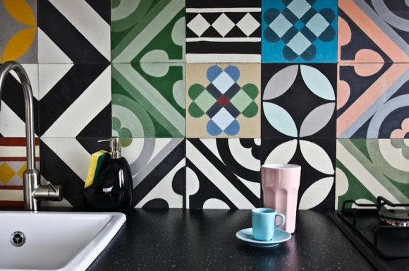Colorful Patchwork Tiles by Purpura