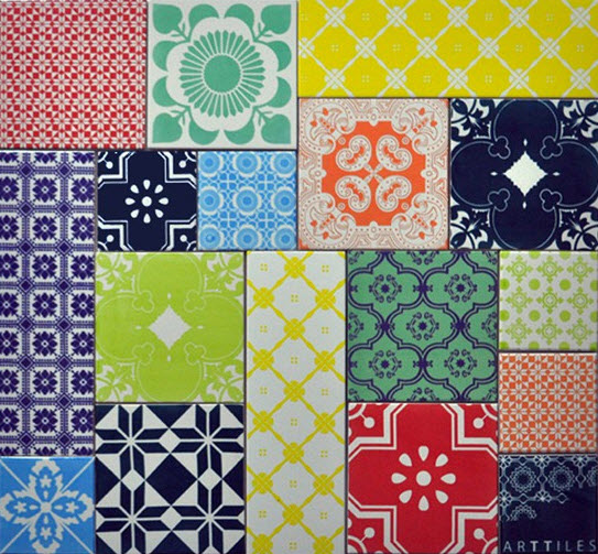 Colorful Patchwork Tiles from ArtTiles