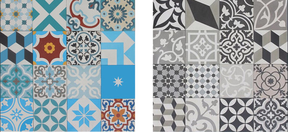 Colorful Patchwork Tiles from Pacific Collection by Cement Tile Shop_1