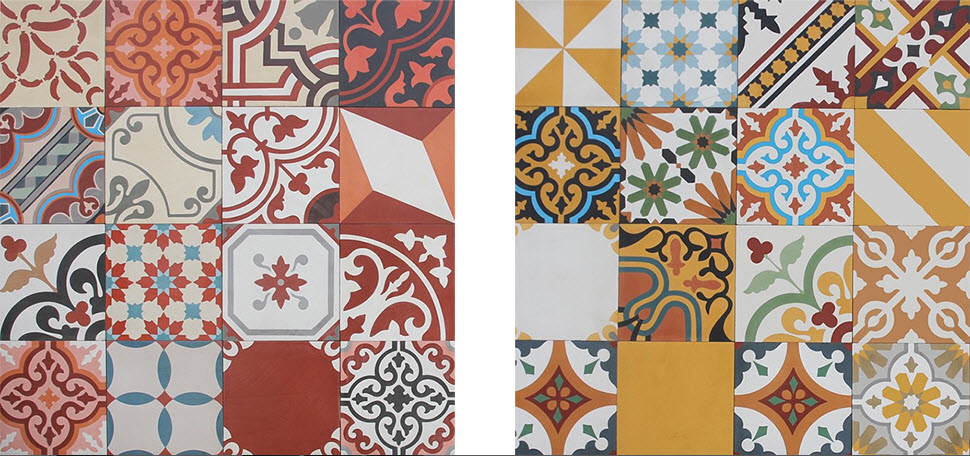 Colorful Patchwork Tiles from Pacific Collection by Cement