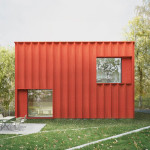 Cubical Cottage with Red Exterior Color