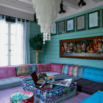 Bold Color Bohemian Living Room_1