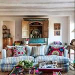 Bold Color Bohemian Living Room_2