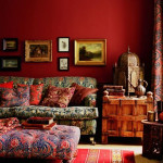 Bold Color Bohemian Living Room_3