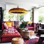 Bold Color Bohemian Outdoor Living Room_2