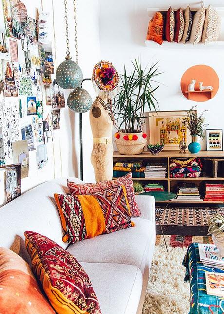 Colorful Boho Home Decor Ideas_1
