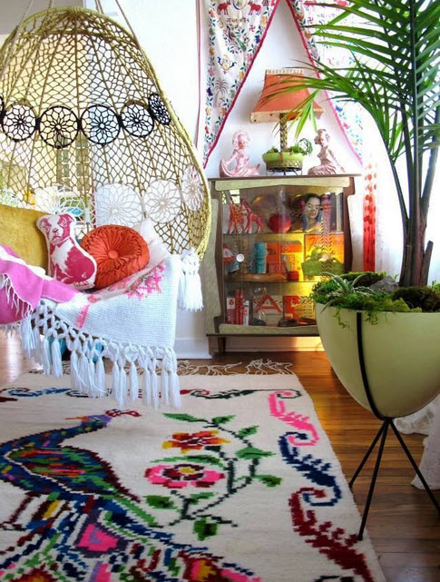 Colorful Boho Home Decor Ideas_12