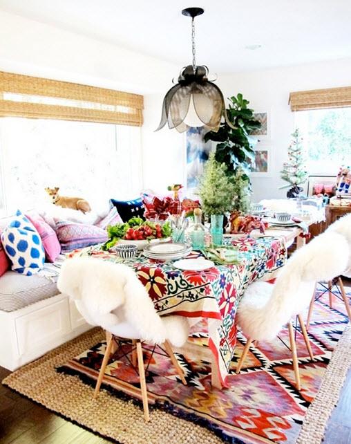 Colorful Boho Home Decor Ideas_14