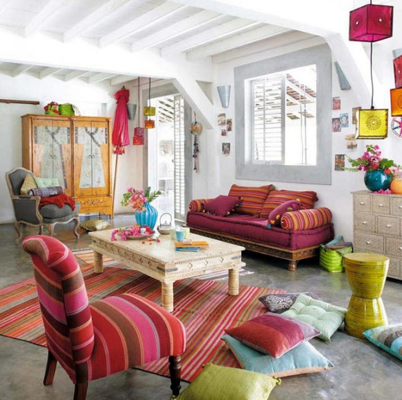 Colorful Boho Home Decor Ideas_15