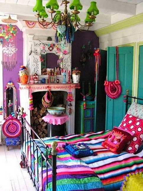 Colorful Boho Home Decor Ideas_8