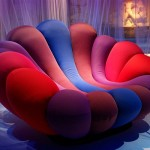 The Anemone: Colorful Chair with Vivid Color Material