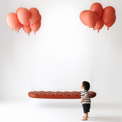 Unique Outdoor Bench: Floating Balloon Bench