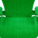 The Ergonomic Chair Covered in a green AstroTurf skin